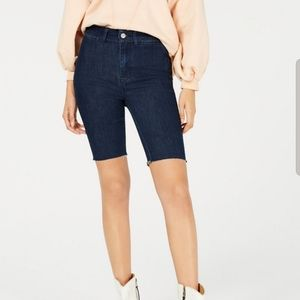 So-Chic Denim Biker Shorts by Free People
